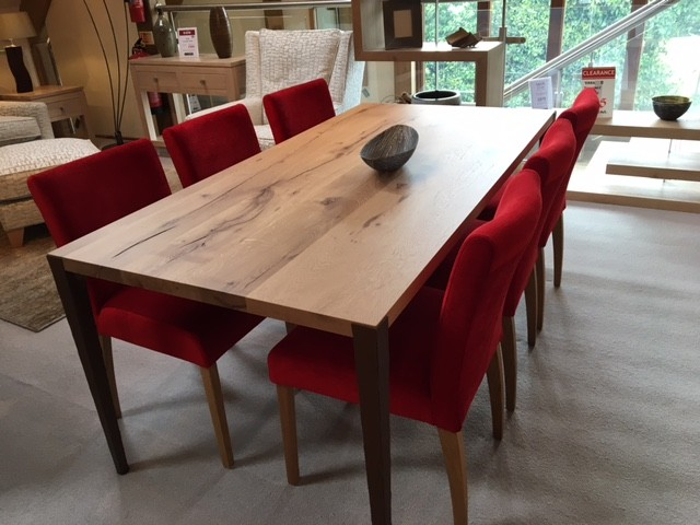 David Salmon Shoreditch dining table with 6 dining chairs