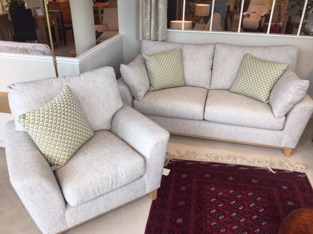 David Salmon Novara sofa and chair by Ercol.